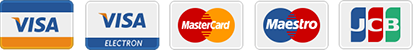 Cards Accepted: Visa Credit/Debit, Mastercard Credit/Debit, Visa Electron, Maestro, JCB and PayPal